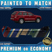 New Painted To Match Rear Bumper For 2005-2010 Jeep Grand Cherokee W/ Tow And Park
