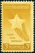 Usa 1948 3 For 1 Sale - Gold Star Mothers Issue - Mnh Stamp - Scott 969