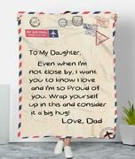 Dad To My Daughter I Want You To Know I Love And So Proud Of You Sherpa Blanket