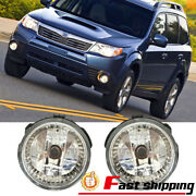 Fits 2009-2013 Subaru Forester Clear Lens Fog Lights Front Bumper Lamps Pair