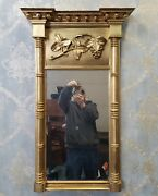 Antique 18th Century American Federal Giltwood Grapevine Hanging Pier Mirror