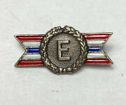 Sterling Production Award Army Navy Pin Badge Class E
