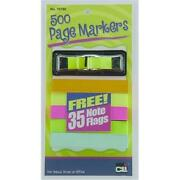 Charles Leonard 76780-st Page Markers - Small Assorted