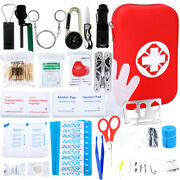 219 Pcs First Aid Kit Easy Access Carrying Case All Purpose Emergency Survival