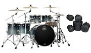 Mapex Saturn Teal Blue Fade Studioease Drums And Bags 22x18/10x7/12x8/14x12/16x14