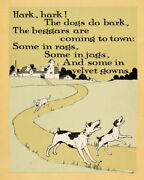 Antique Print-poem-dogs-beggars-kennedy-costello-1902