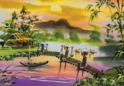 Jigsaw Puzzle 1000 Pieces Landscapes The Quiet Countryside Of Vietnam Painting
