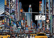 Jigsaw Puzzle 1000 Pieces Landscapes New York Night View Animation Art Version