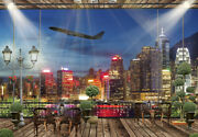 Jigsaw Puzzle 1000 Piece Landscapes Airplane Takeoff Scene Seen From The Terrace