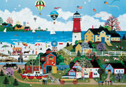 Jigsaw Puzzle 1000 Pieces Landscapes Art Milfordand039s Beach And Lighthouse Painting
