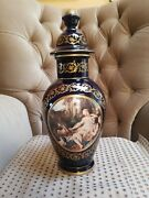 Rare 19 Tall Vintage Keramos Italy Porcelain Urn With Lid