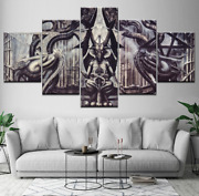 Alien Baphomet Canvas Print Painting Wall Art Wallpapers Poster Decor 5 Pieces