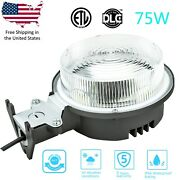 75w 8400lm Led Yard Light Dusk To Dawn Photocell Outdoor Security Area Light