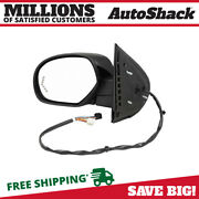 Side View Mirror Power Heated Signal Black Driver For Chevy Suburban 1500 V8