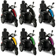 Pride Mobility Raptor 3-wheel Electric Scooter Fast Speed Long Range - 6 Colors