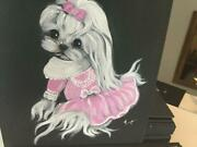 Adorable Original Painting Of The Maltese