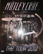 Motley Crue 2012 Tour Poster Signed Autographed By All 4 Psa Dna Coa The Dirt