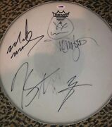 Motley Crue Autographed Signed And Used Tour Played Drumhead Psa/dna Coa Tommy Lee
