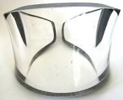 Cec Lepage Huge Thick Clear Lucite Painted Gray Runway Cuff Bracelet