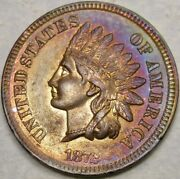 1872 Indian Head Cent/penny Awesome Magnificently Monster Toned Gorgeous Beauty