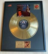 Elvis Presley How Great Thou Art Vinyl Gold Metallized Record Mounted In Frame