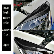 Carbon Fiber Front Headlight Eyebrow Cover Grill For Nissan Teana Altima 2013-15