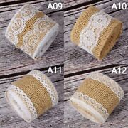 2m Diy Party Gift Packing Crafts Jute Lace Ribbon Burlap Roll Wedding Home Decor