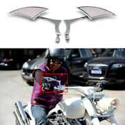 Chrome Universal Motorcycle Rearview Mirrors For Honda Big Dog With Harley Bolt