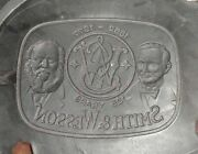 Rubber 9andrdquo Pewter Spin Casting Mold Smith And Wesson 125 Year Belt Buckle 1852andndash1977
