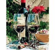 Wine Glass Oil Painting By Numbers House Decoration Canvas Portrait Wall Display