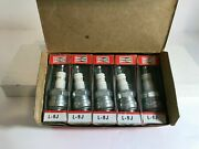 Champion Spark Plugs Box Of 8 L-9j Very Rare Marine Motorcycles Cars Nos