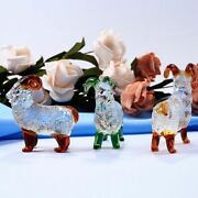 Crystal Goat Crafts Figurines Miniatures Glass Animal Ornaments Home Decoration