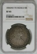1806mo Th Mexico 8r Ngc Xf 45 - Spanish Colonies, Foreign Coin, Reale