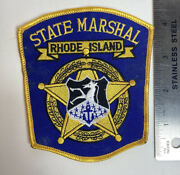 State Marshall Rhode Island Police Patch Ri Ocean State