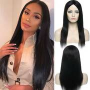 Vogue 100 Real Malaysian Human Hair Wigs Glueless Silky Straight Full Wigs C500