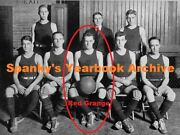 High School Yearbook With Red Grange 1920's Nfl All-decade Team Champ Hof
