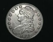 Hsandc 1832 Small Letters Capped Bust Half Dollar Au - Us Coin