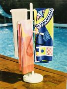 Swimline Hot Tub Pool Spa Accessories Pvc Outdoor Spa And Pool Towel Rack Holder