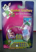 1998 Toy State Basket Stuffers See Saw Bunnies Wind Up Moc Easter