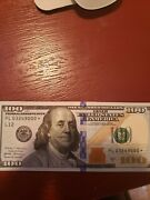 Star 2017 A 100 Bill With Hard To Find Serial Number Uncirculated