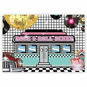 7x5ft 50s Retro Rock N Roll Diner Party Backdrop Sock Hop Dance Cosplay Prom