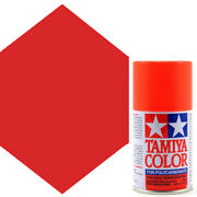 New Tamiya Polycarbonate Ps-20 Fluorescent Red Spray Paint 86020 Free Us Ship