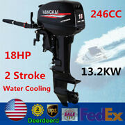 18hp 246cc Outboard Motor 2 Stroke Fishing Boat Engine Water Cooling Cdi