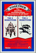 The Three/four Musketeers Orig One Sheet Movie Poster Oliver Reed/raquel Welch