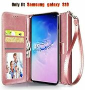 Samsung Galaxy S10 Leather Wallet Case Luxury Full Body Protective Card Slots Us