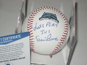 Ernie Banks Signed Official Wrigley 100th Baseball W/ Beckett Coa And Lets Play 2