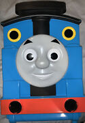 Thomas The Train Take N Play Carry Case 2009 Blue Plastic Handled Built-in Track