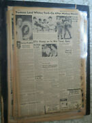 Baseball Micky Mantle Newspaper Expected To Sing 80.000 Contract