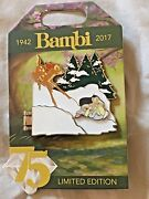 Disney Store Bambi Thumper Snow Pin 75 Anniversary Limited Ed 3000 D23 2017 Expo