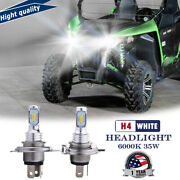 2x New Arrival H4 35w White Led Headlight Bulbs For Arctic Cat Wildcat Trail 700